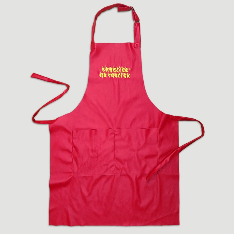 Red Hot Sheezick na reezick, red apron