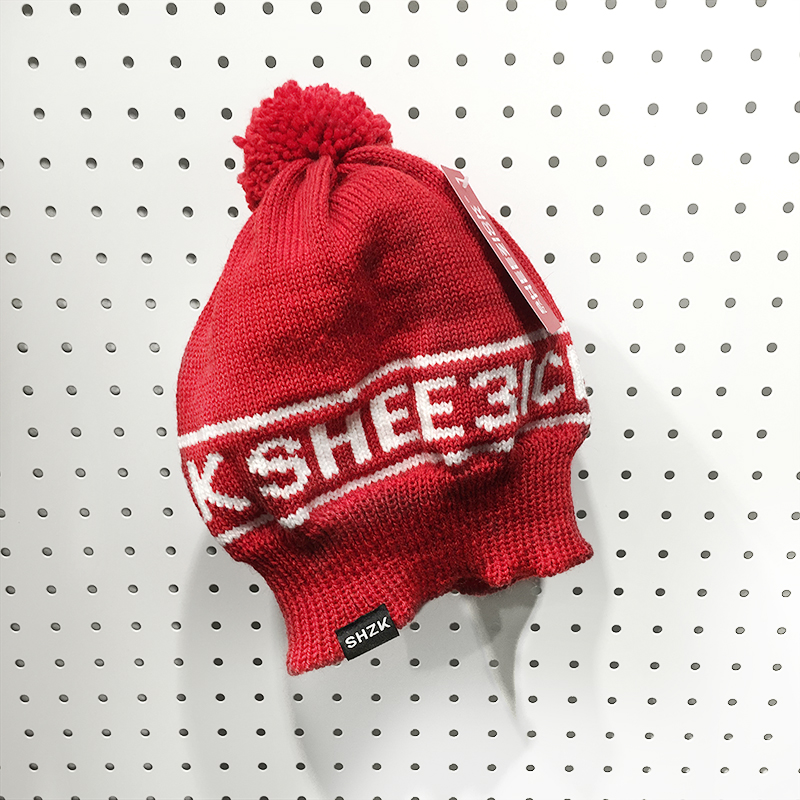 SHZK team, red beanie