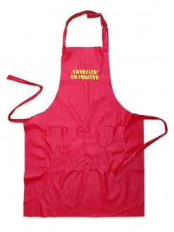 Red Hot Sheezick na reezick, red apron