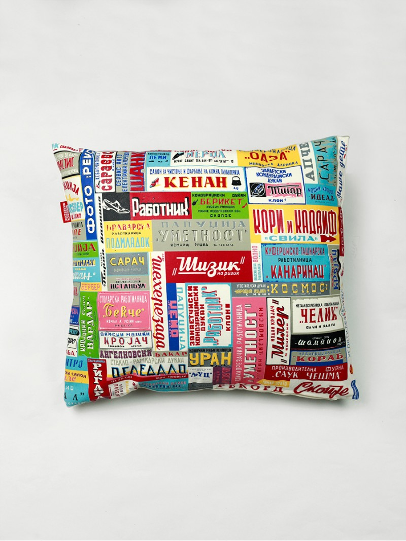 Names, cushion cover