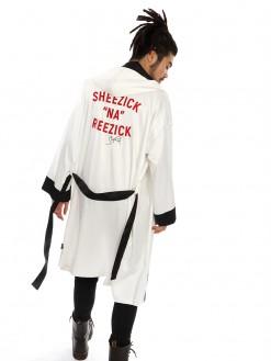 Sheezick na reezick, satin hooded robe