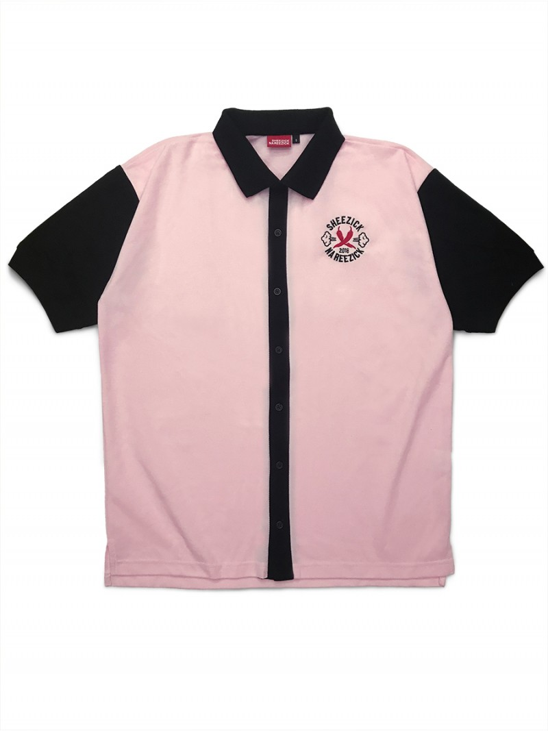 Pirate Pepper's Club, pink polo