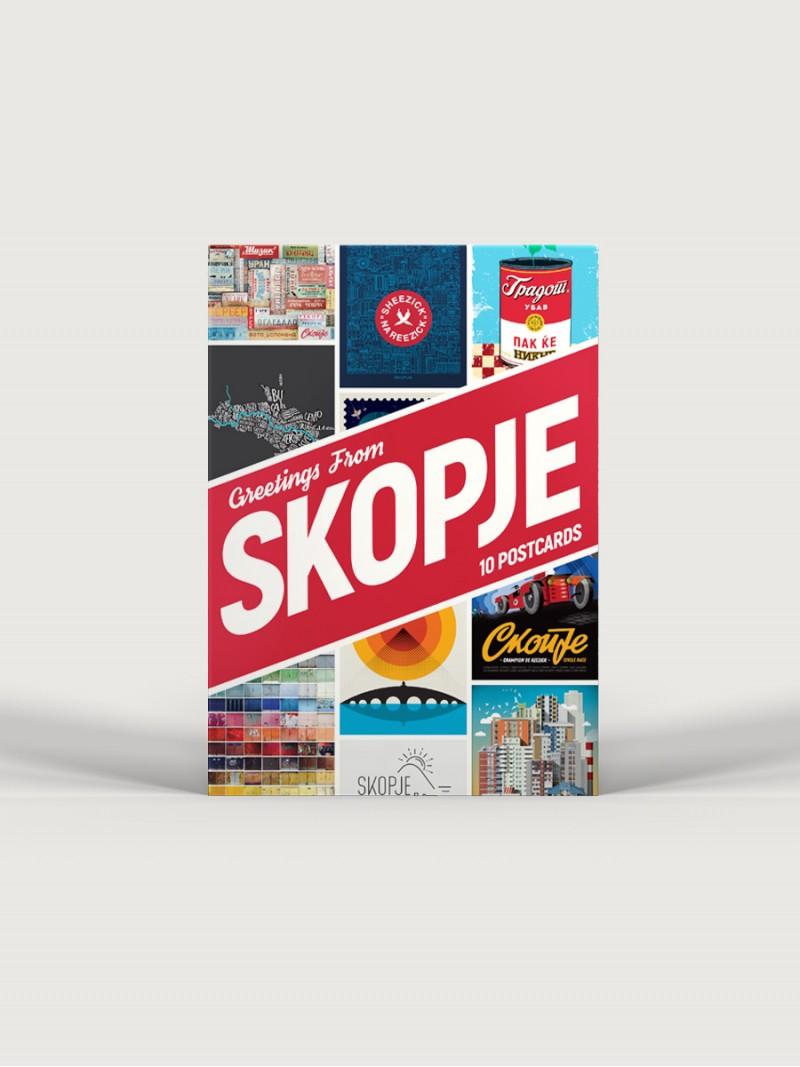 Greetings from Skopje, postcards set