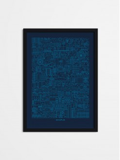 SKP Blueprint, framed poster