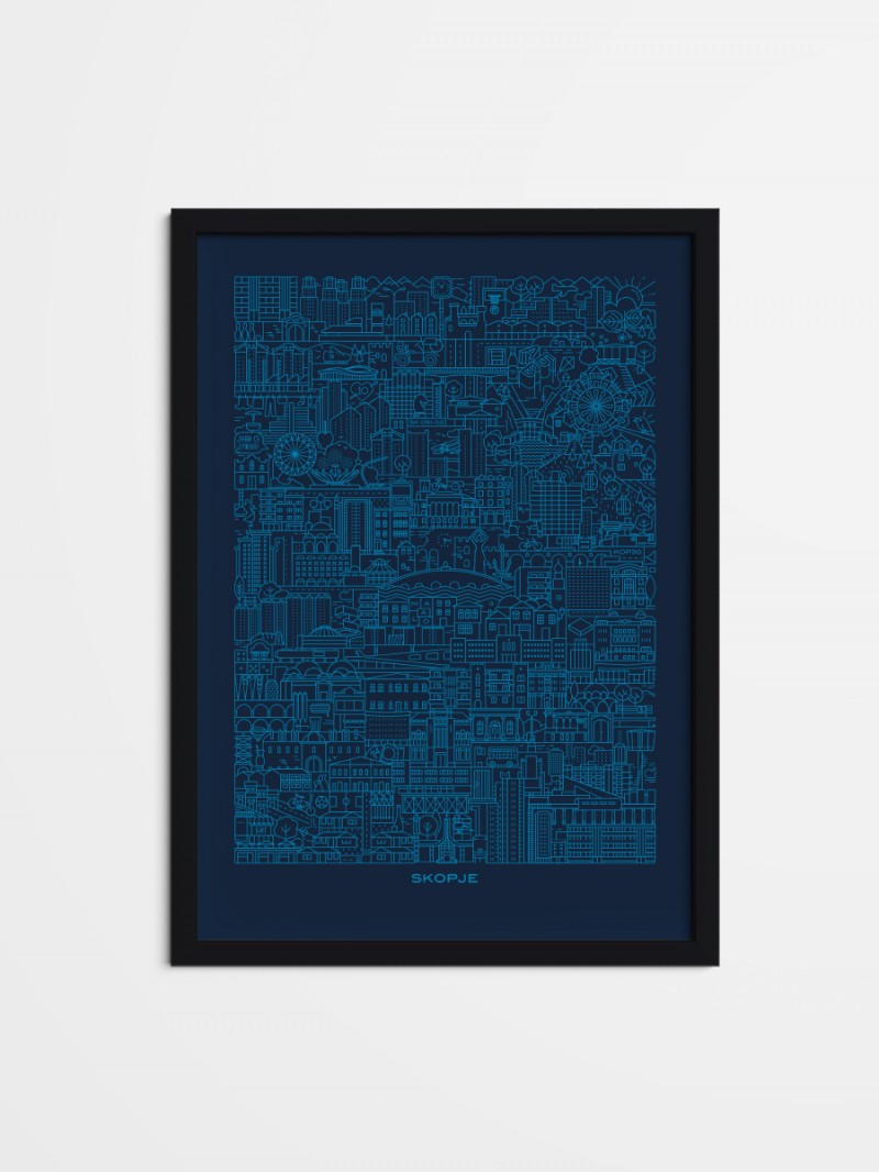 SKP Blueprint, framed poster