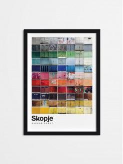 SKP Pantone, framed poster