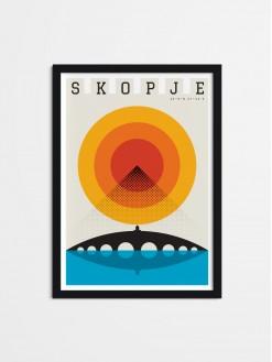 Skopje Summer, framed poster