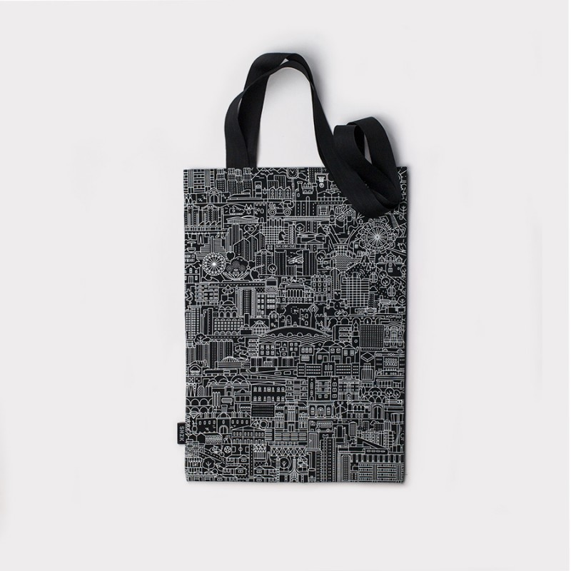 SKP Blueprint, black tote bag