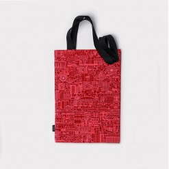 SKP Blueprint, red tote bag