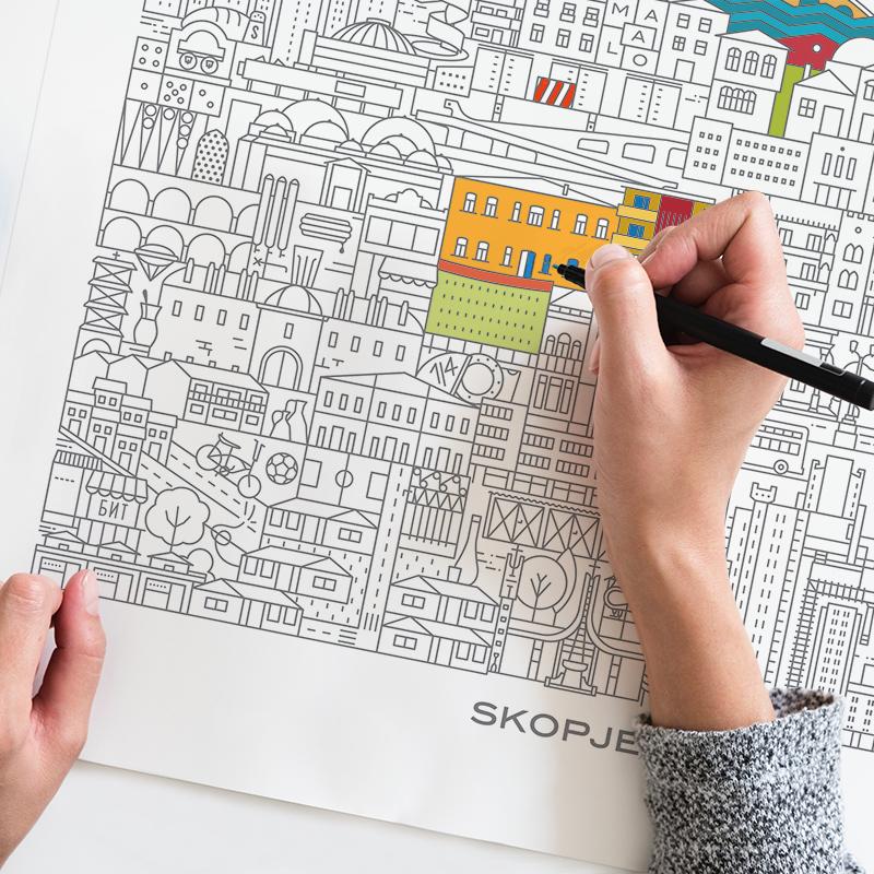 Coloring Skopje, poster