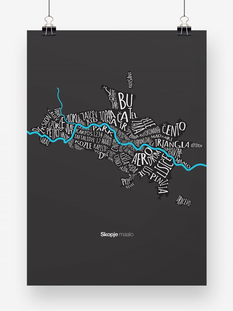 Skopje maalo black, poster